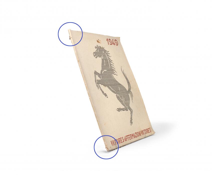 1949 Ferrari Yearbook Spine