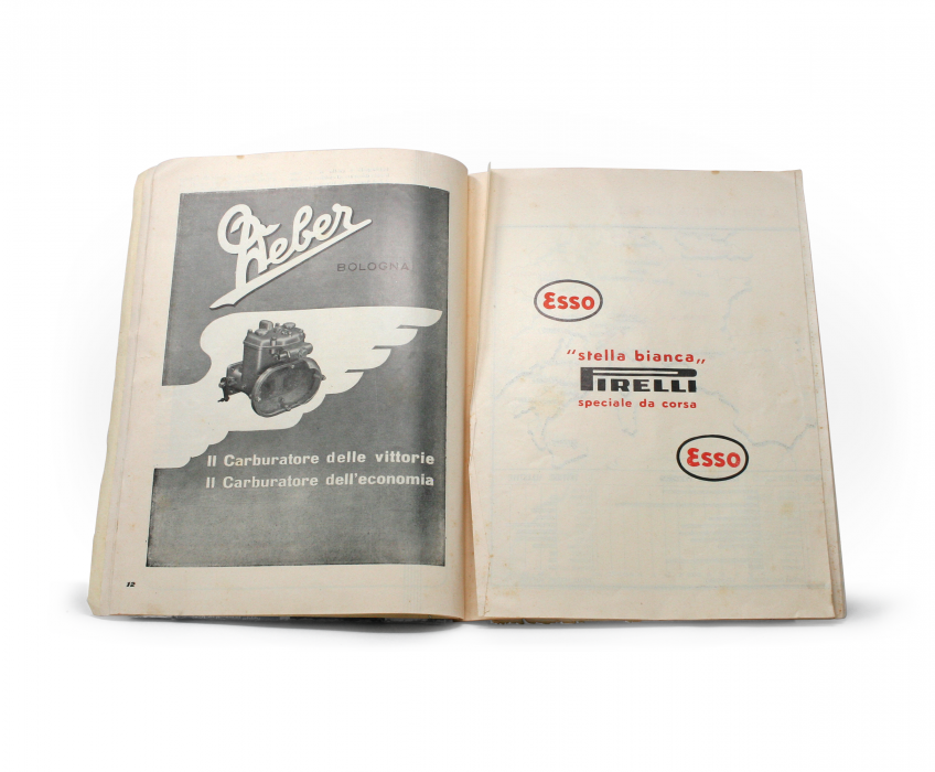 1949 Ferrari Yearbook Map Fold-Out Closed