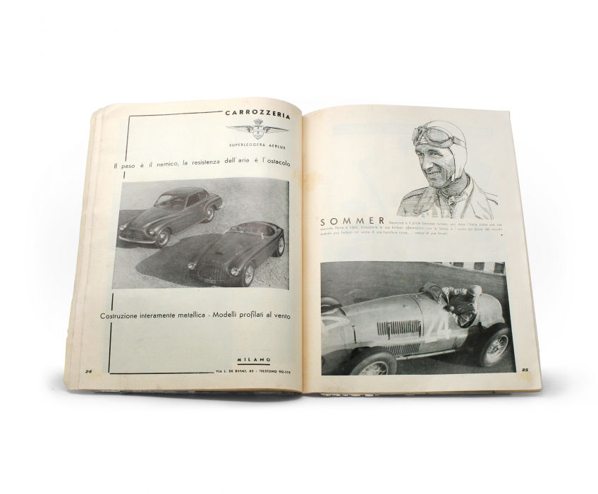 1949 Ferrari Yearbook Interior Page