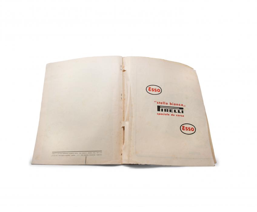 1949 Ferrari Yearbook Car Fold-Out Closed