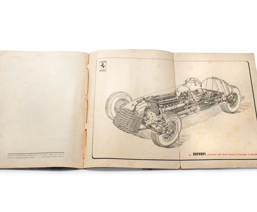1949 Ferrari Yearbook Car Fold-Out Open