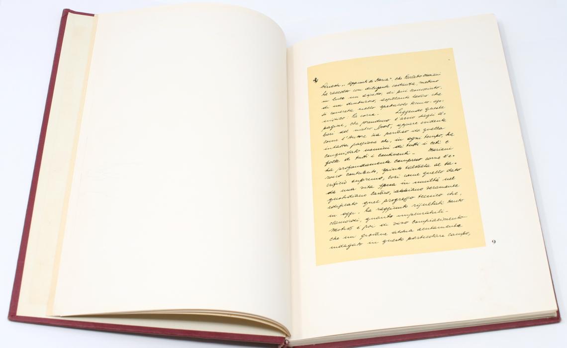 Appunti di Storia 1957, Interior 2, preface by Enzo Ferrari